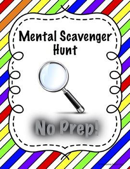 Mental Scavenger Hunt (For early finishers)