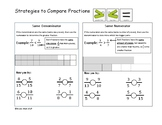 Mental Strategies for Comparing Fractions-Interactive Journal