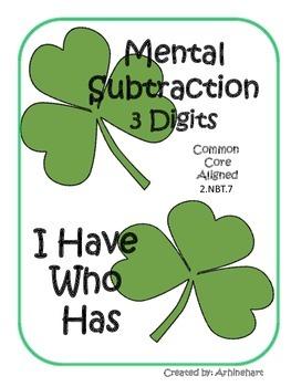 Mental Subtraction 3 Digits