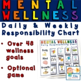 Mental Wellness Daily and Weekly Responsibility Chart and Game