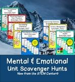 Mental and Emotional Health Scavenger Hunt Bundle