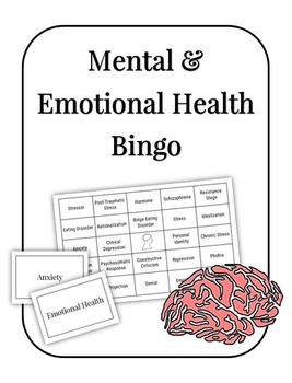 Mental and Emotional Health Bingo