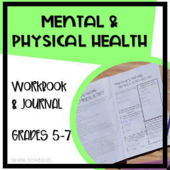 Mental and Physical Health Workbook and Reflective Journal: 65+ Pages!