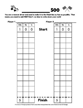 Mentally Adding 100 and 10 - Race to 500