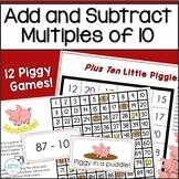 Adding and Subtracting Tens Piggy Piggy