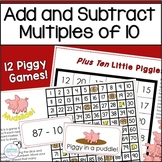 Adding and Subtracting Tens Activities | Pigs