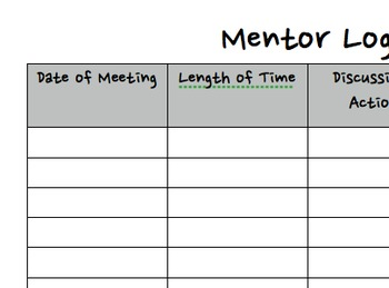 Mentor Log *Editable*