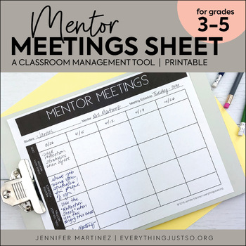 Mentor Meeting Forms   Behavior Management Strategy   Editable