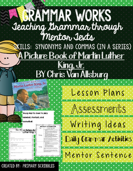 Grammar Works with Mentor Text  A Picture Book of Martin L