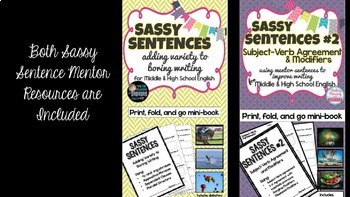 Mentor Sentence Bundle - Middle and High School - UPDATED