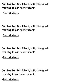Mentor Sentence Each Kindness