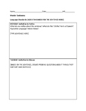 Mentor Sentence Handout- Can Edit!