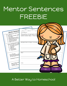 Mentor Sentence FREEBIE