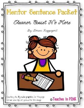 Eleanor Roosevelt {Mentor Sentence} #2fortuesday