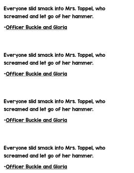Mentor Sentence Officer Buckle and Gloira