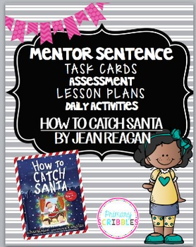 Mentor Sentence Pack 1 Assessment, Task Cards, Daily Work