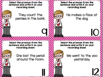 Mentor Sentence Pack 4 Assessment, Daily Work, Task Cards, Sentence