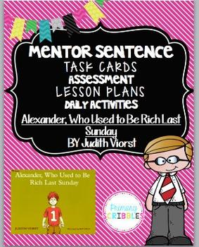 Mentor Sentence Pack 4 Assessment, Daily Work, Task Cards, Sentence