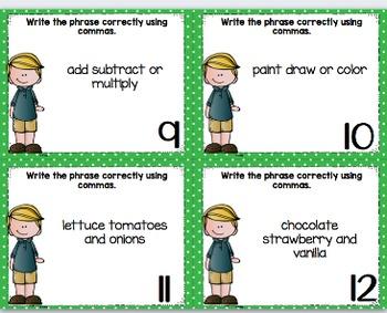 Mentor Sentence Pack 5 Assessment, Daily Work, Task Cards, Sentence