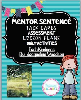 Mentor Sentence Pack 6 Assessment, Daily Work, Task Cards, Sentence