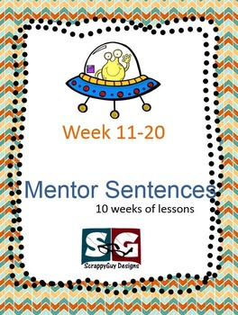 Mentor Sentence Packet - Set 02 - 10 weeks of Grammar lessons with Quizzes