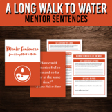 Mentor Sentence Packet for A Long Walk to Water Book Study