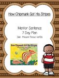 "Mentor Sentence Plan for ""How Chipmunk Got His Stripes"""