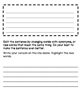 Mentor Sentence Templates