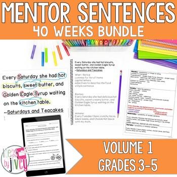 Mentor Sentence Units (VOLUME 1) Bundle (Grades 3-5): 40 Weeks!
