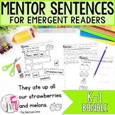 Mentor Sentence Units Bundle (Grades K-1): 40 Weeks!