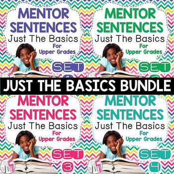 Mentor Sentence Units (JUST THE BASICS) Bundle (Grades 3-5): 40 Weeks!