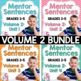 Mentor Sentence Units (VOLUME 2) Bundle (Grades 3-5): 40 Weeks!