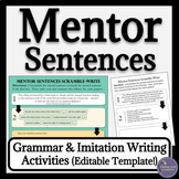 Mentor Sentences Activities for Middle School and High School