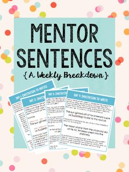 Mentor Sentence Weekly Breakdown
