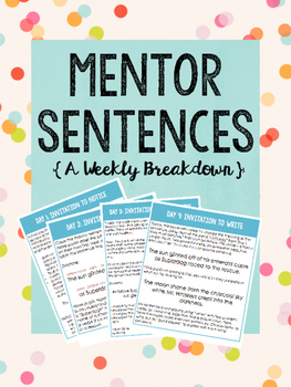 Mentor Sentence Weekly Breakdown