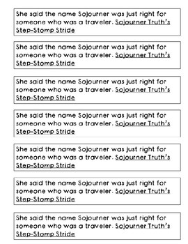 Mentor Sentence from Sojourner Truth's Step-Stomp Stride: Word Roots