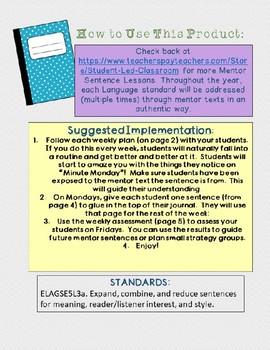 Mentor Sentence from Thank You, Mr. Falker: Sentence Structure