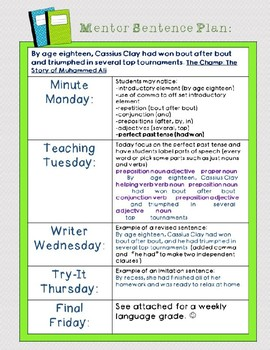 Mentor Sentence from The Champ: Perfect Verb Tense