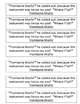 Mentor Sentence from Trombone Shorty: Dialect
