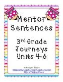 Mentor Sentences 3rd Grade Journeys Units 4-6