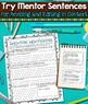 Mentor Sentences:  Adverbs and Prepositions