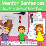 Mentor Sentences Back to School Mini Pack {Sentences with Lesson Plans}