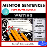Mentor Sentences BUNDLE: Four Popular Middle Grade Novels