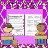 Mentor Sentences:  Complete Sentences {FREE}