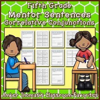 Mentor Sentences: Correlative Conjunctions {Fifth Grade}