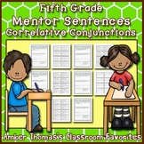 Mentor Sentences: Correlative Conjunctions {Fifth Grade}