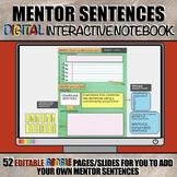 Mentor Sentences DIGITAL Interactive Notebook: Paperless G