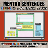 Mentor Sentences DIGITAL Interactive Notebook: Paperless G