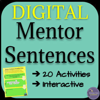 Mentor Sentence Writing Exercises for High School, Middle School