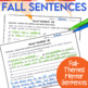 Mentor Sentences for Fall-Comma Focused